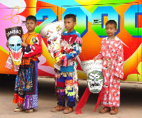 Phi Ta Khon is Halloween for kids in Dansai