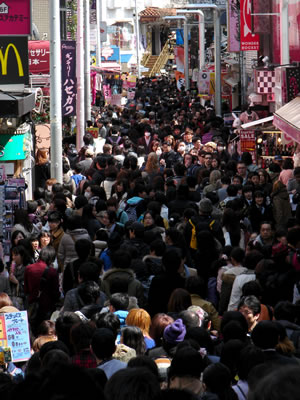 Harajuku teen fashion paradise and claustrophobe hell. Photo (c) 2012 by John Goss