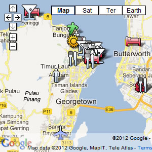 click for our interactive map of Penang