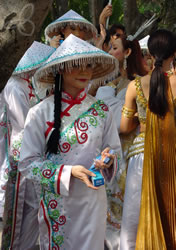 The couple at right center won 1st place for best traditional costume