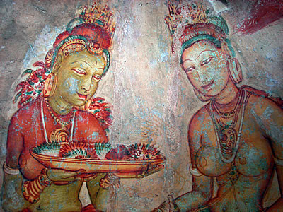 Sigiriya women frescoes, Sri Lanka  (c) 2010 by John Goss